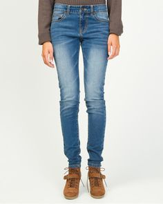 Light Wash Stretch Skinny Jean - A light wash accents these flattering skinny leg jeans cut with a hint of stretch for added comfort. Stretches, Skinny Jeans, Passion, Pants, Style, Skinny Fit Jeans, Trousers, Stylus, Women Pants