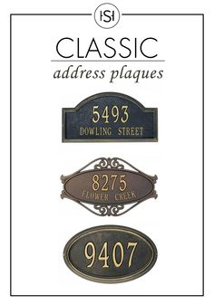 Spruce up your entryway with these classic address plaques. It will mark your home with style and confidence.