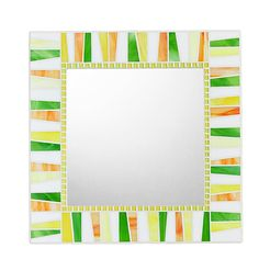 Hey, I found this really awesome Etsy listing at https://www.etsy.com/listing/248578544/colorful-mosaic-mirror-white-lemon-lime