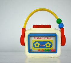 Vintage Fisher Price Toy Cassette Player 1992 by udaskids on Etsy, $9.00