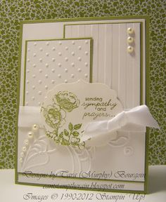 sympathy card.  Layered textures with embossing folders.