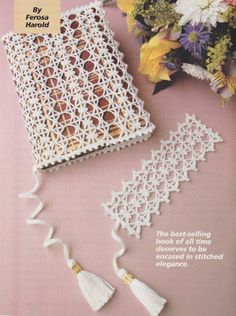 Bible Cover Crochet Pattern with Matching Bookmark
