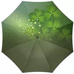 St.Patrick's Day Gift Irish Shamrock Pattern Irish Shamrock Pattern Travel Windproof Rainproof Umbrella