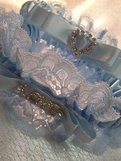 "The "" Mirabelle "" Soft Blue Garter Set. Ships worldwide. Wedding Garters of distinction. https://www.etsy.com/listing/200550146/wedding-garter-the-mirabelle-soft-blue?ref=shop_home_active_20"