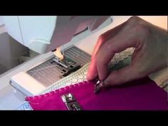 Using my sewing machine right... ▶ Husqvarna Viking Hemmer Foot - YouTube