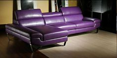 purple furniture | ... & Sectionals >> Leather Sectionals >> Purple Leather Sectional DM33