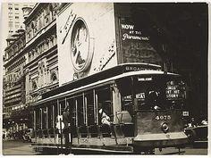 Berenice Abbott - Streetcar, New York Berenice Abbott, City Architecture, Metropolitan Museum, New York City, Cities, Nyc, Urban, Black And White, Photography