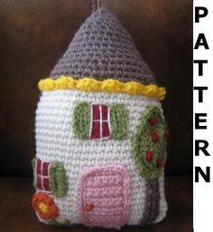 House Pillow Crochet Pattern - finished items made from pattern may be sold. $3,50, via Etsy.