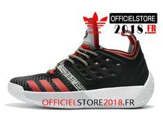 new products 5cb2c c8114 Adidas Harden Vol. 2 Chaussures de BasketBall Pas Cher Pour Homme Noir Rouge  Blanc-1803190336-Adidas Superstar 2018   Chaussures de Prix France!