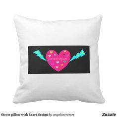 throw pillow with heart design
