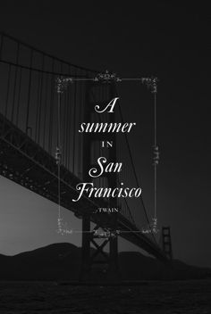 Summer In SF #webdesign #design #designer #inspiration #user #interface #ui #typography #posters #type #fonts