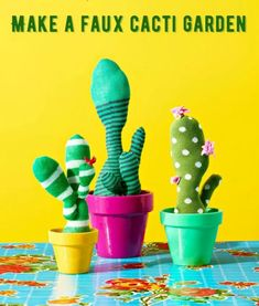 Learn how to make the most fun faux cactus ever using socks! This craft idea is perfect for those laundry castaways without a match. Ana White, Map Crafts, Craft Projects, Crafts For Kids, Kool Aid, Cactus Socks, Old Entertainment Centers, Tin House, Terra Cotta