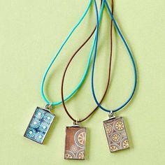 Schmuck Karton Muttertag selber basteln Papier Halskette