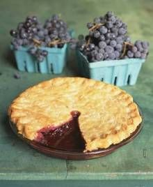 Grape Pie...never heard of this before, but it sounds delicious.