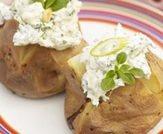 "101 Baked Potato Toppings. This site calls them ""Jacket Potatoes"". Some of these toppings sound heavenly, others a little different, and some are just downright strange. But I would be willing to try them all, as I LOVE Baked Potatoes!!!"