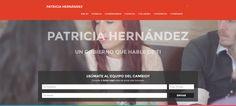 Página Web de Patricia Hernández, candidata del PSC al gobierno de Canarias.