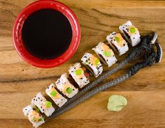 Make spicy tuna rolls at home for half the price of going out. Top the spicy tuna rolls with some spicy mayo and they are oh so good.