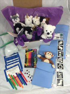 Great kids party idea. Adopt and stuff 8 inch Pets. Great as a full party or loot bag. You can also add one our pet sleeping bags to decorate for your Par-T-Pet. .