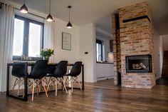 Ceglane wnętrza Elizy i Tomka! - Kocham urządzanie - bo mamy serce do wnętrz Dining Room Design, Kitchen Design, Home Living Room, Living Room Decor, Bbq House, Glamour Decor, House Design, Interior Design, Furniture