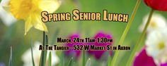 107.3 The WAVE's Spring Senior Luncheon will take place on Tuesday, March 24th at The beautiful and historic Tangier - 532 West Market St in Akron! Enjoy a sit down lunch, beautiful cakes from Westside Bakery, live entertainment by Moss Stanley, vendors with information for seniors and their families, door prizes, and more. http://bit.ly/1MlLO9Z