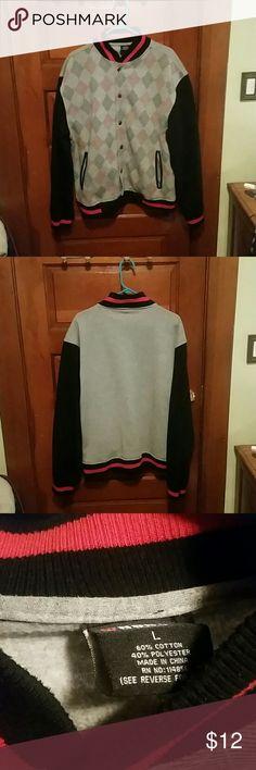 Varsity style jacket red grey and black In great condition Jackets & Coats Bomber & Varsity