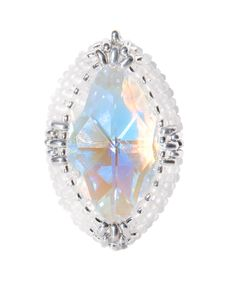 How to Bead Bezell Swarovski Marquise Crystal Pendant Jewellery Kit by K...