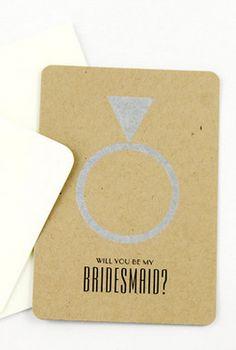 """Will you be my bridesmaid"" card? Always A Bridesmaid, Be My Bridesmaid Cards, Will You Be My Bridesmaid, Wedding Bridesmaids, Invitation Ideas, Invites, Wedding Invitations, Summer Wedding, Wedding Day"