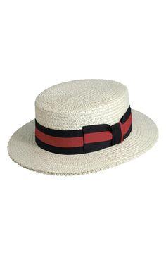 Main Image - Scala Straw Boater Hat