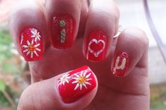 """saying """"i <3 u by rish02 - Nail Art Gallery nailartgallery.nailsmag.com by Nails Magazine www.nailsmag.com #nailart"""