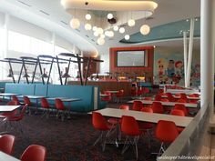 Universal's Cabana Bay Beach Resort - plenty of seating for a quick meal. www.facebook.com/jansleeper3dtravelcompany.com