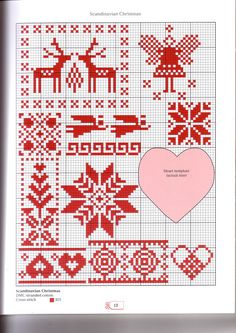 Christmas cross-stitch scheme  #Christmas #newyear #embroidery #crossstitch