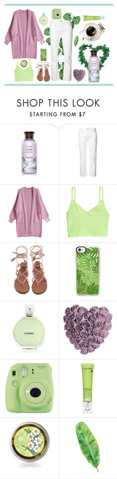 """""""Lilac and Mint"""" by makkachin-the-fabulous ❤ liked on Polyvore featuring Innisfree, Nili Lotan, Casetify, Chanel, Fuji and Lancôme"""