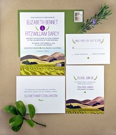 Printable DIY Wedding Invitation  rustic by pinkballoonpaper