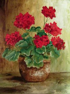 Susan Bourdet Geraniums Wrapped Canvas Canvases And