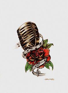 old school microphone