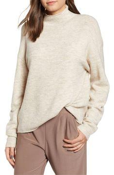 9e3b6d1abce Leith Cozy Mock Neck Sweater (Regular   Plus Size)