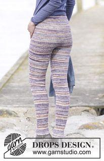 Free knitting patterns and crochet patterns by DROPS Design Warm Leggings, Knit Leggings, Knit Pants, Knitted Tights, Drops Design, Crochet Pants, Crochet Slippers, Fall Knitting, Knitting Socks