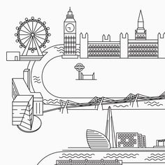 Wedding tableau with London illustrated map: The Shard, Millennium Bridge, Tate Modern, London Eye, Big Ben, Westminster Abbey Graphic Design & Wedding Stationery by Paffi www.paffi.it London Illustration, Millennium Bridge, The Shard, Westminster Abbey, London Eye, Wedding Stationery, Big Ben, Real Weddings, Journey