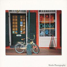 New Orleans French Quarter Art Print. Deja Vu Bike by Briole