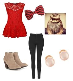 """""""Untitled #21"""" by kmunar on Polyvore featuring Topshop, Call it SPRING and Kenneth Jay Lane"""