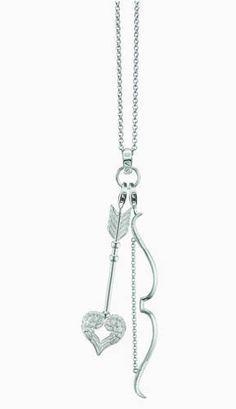 Glucky : Fashion Bow And Arrow Pendants Necklaces, 925 Sterling Silver Charm… Cute Jewelry, Jewelry Box, Jewelry Accessories, Jewelry Making, Jewelry Necklaces, Unique Jewelry, Jewlery, Urban Jewelry, Country Jewelry