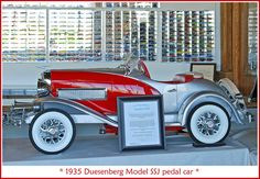 *PEDAL CAR ~ 1935 Duesenberg pedal car by sjb4photos, via Flickr