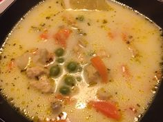 Chicken soup with tarragon - Snacks To Make, Easy Snacks, Cheesy Breadsticks, Best Christmas Recipes, Pasta E Fagioli, Cheap Easy Meals, Hungarian Recipes, Happy Foods, Feeding A Crowd