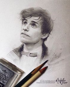 """Newt Scamander  """"Fantastic beasts and where to find them"""" by Michelle's world of art"""
