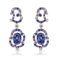 Rococo collection by @faberge lavender spinel earrings #christmasgifts #luxurygifts #faberge  See more at www.thejewelleryeditor.com