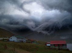 Буря на Фарерских островах. 2 ноября 2012 года