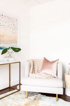 Blush, Brass, and White All Over—We're Obsessed With This Glam Abode | MyDomaine