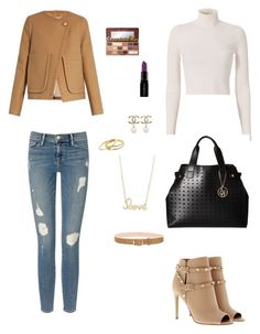 """#CamelCasualCoat"" by zazaya96 ❤ liked on Polyvore featuring See by Chloé, A.L.C., Frame Denim, Valentino, rag & bone, Armani Jeans, Sydney Evan, Chanel, Gorjana and Smashbox"