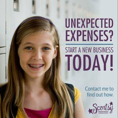 I would love to help you make extra money for those unexpected expenses! Join Scentsy, Scentsy Independent Consultant, Extra Money, Extra Cash, Boss Lady, How To Find Out, Facebook, Serendipity, Brittany