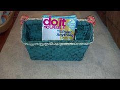 Hobby lobby basket I painted and waxed and embellished...